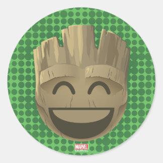 """""""I Am Groot"""" Text Emoji Round Sticker"""