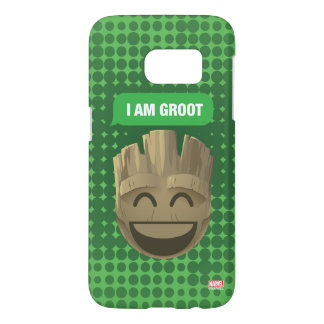 """I Am Groot"" Text Emoji Samsung Galaxy S7 Case"