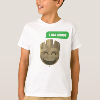 """I Am Groot"" Text Emoji T-Shirt"