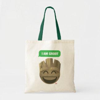 """I Am Groot"" Text Emoji Tote Bag"