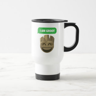 """I Am Groot"" Text Emoji Travel Mug"