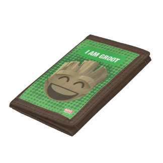 """""""I Am Groot"""" Text Emoji Trifold Wallet"""