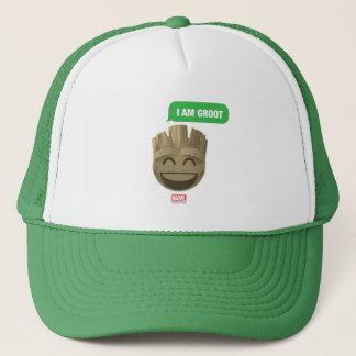 """""""I Am Groot"""" Text Emoji Trucker Hat"""