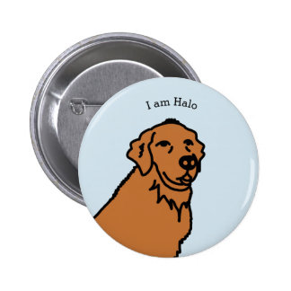 I am Halo illustration 2 Inch Round Button