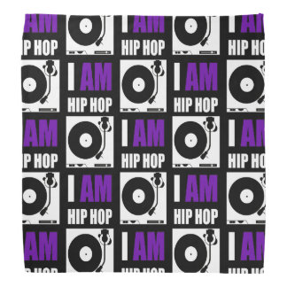 I AM HIP HOP - PURPLE LETTER v2 Bandana