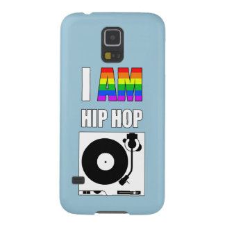 """I AM HIP HOP"" RAINBOW LETTER PHONE CASE CASES FOR GALAXY S5"