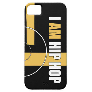 I AM HIP HOP - RECORD & BARZ (BLACK BACKGROUND) iPhone 5 COVER