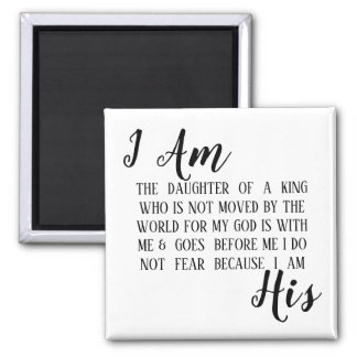 I Am His custom magnet