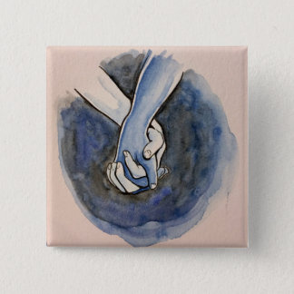 I Am Holding Your Hand by @Alexis_Royce 2 Inch Square Button