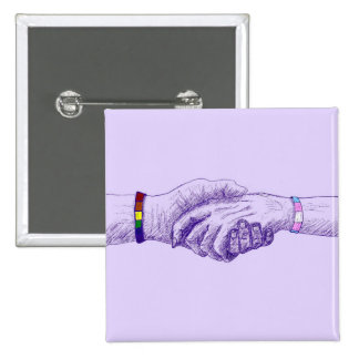 I Am Holding Your Hand by @cobaltpilot 2 Inch Square Button