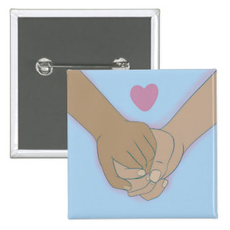 I Am Holding Your Hand by @Kkiticath 2 Inch Square Button