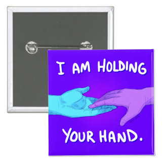 I Am Holding Your Hand by @Kokoronis 2 Inch Square Button