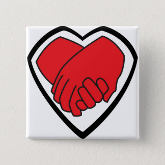 I Am Holding Your Hand by @LoganC_Jones 2 Inch Square Button