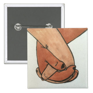 I Am Holding Your Hand by @Oohbiscuit 2 Inch Square Button
