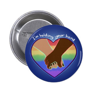 I Am Holding Your Hand (v.1) by @Polymeralchmst 2 Inch Round Button