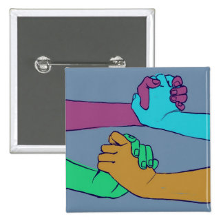 I Am Holding Your Hand (v.2) by @C_Rowles 2 Inch Square Button