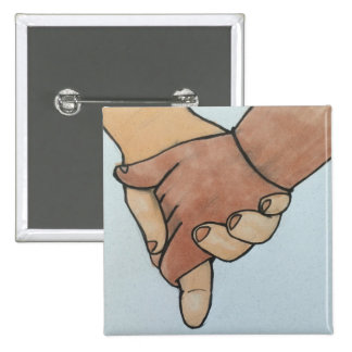 I Am Holding Your Hand (v.2) by @oohbiscuit 2 Inch Square Button