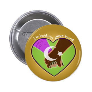 I Am Holding Your Hand (v.2) by @Polymeralchmst 2 Inch Round Button