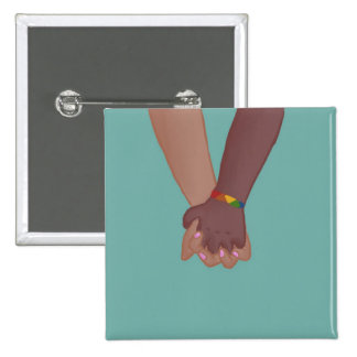 I Am Holding Your Hand (v.2) by @SunflowerSnips 2 Inch Square Button