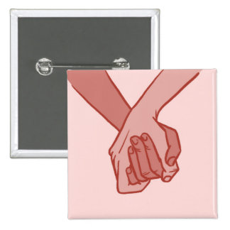 I Am Holding Your Hand (v.3) by Beau Pirrone 2 Inch Square Button