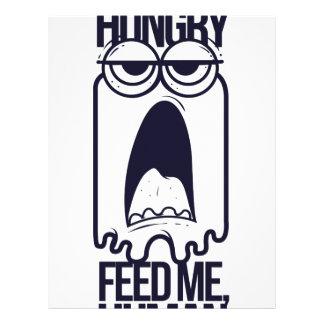 i am hungry feed me human letterhead