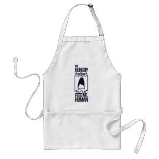i am hungry feed me human standard apron