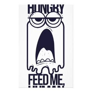 i am hungry feed me human stationery
