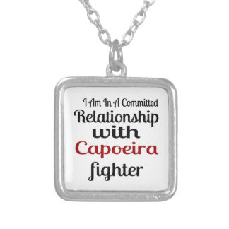 I Am In A Committed Relationship With Capoeira Fig Silver Plated Necklace
