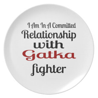 I Am In A Committed Relationship With Gatka Fighte Plate