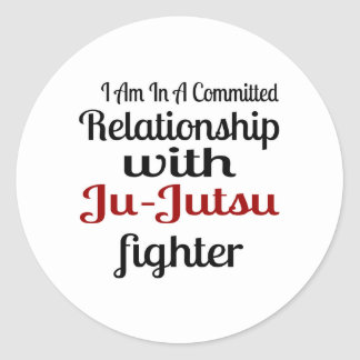 I Am In A Committed Relationship With Ju-Jutsu Fig Classic Round Sticker