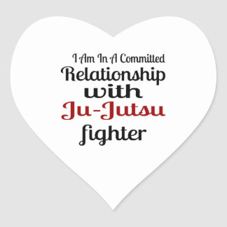 I Am In A Committed Relationship With Ju-Jutsu Fig Heart Sticker