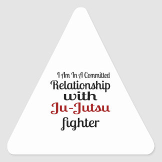 I Am In A Committed Relationship With Ju-Jutsu Fig Triangle Sticker