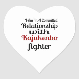 I Am In A Committed Relationship With Kajukenbo Fi Heart Sticker
