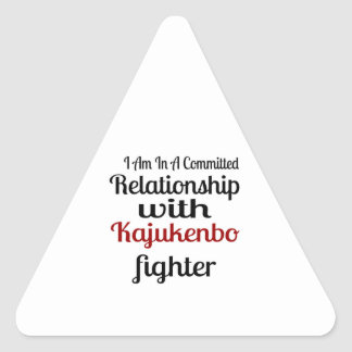 I Am In A Committed Relationship With Kajukenbo Fi Triangle Sticker