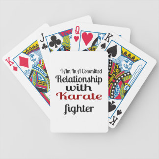 I Am In A Committed Relationship With Karate Fight Bicycle Playing Cards