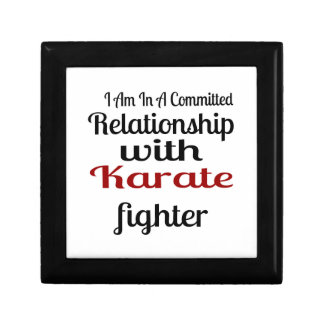 I Am In A Committed Relationship With Karate Fight Gift Box