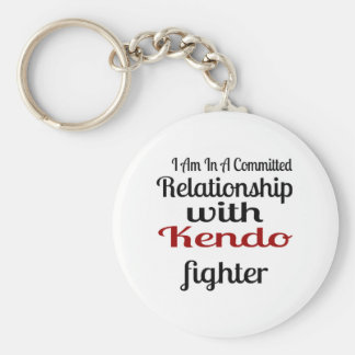 I Am In A Committed Relationship With Kendo Fighte Keychain