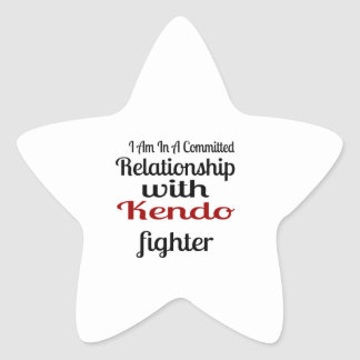 I Am In A Committed Relationship With Kendo Fighte Star Sticker