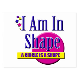 "I Am in Shape ""Fitness"" Slogan Postcard"