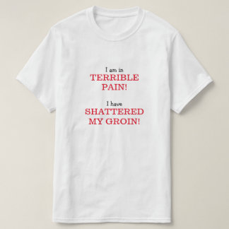 I am in TERRIBLE PAIN! I have SHATTERED MY GROIN! T-Shirt