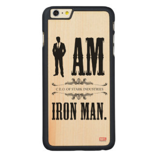 I Am Iron Man Carved® Maple iPhone 6 Plus Case