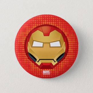 """""""I Am Iron Man"""" Emoji 2 Inch Round Button"""