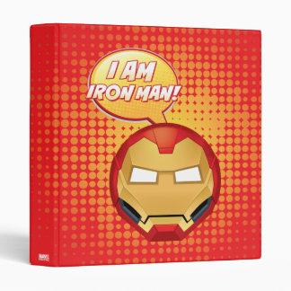 """""""I Am Iron Man"""" Emoji 3 Ring Binder"""