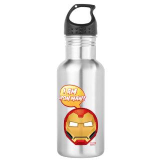 """I Am Iron Man"" Emoji 532 Ml Water Bottle"