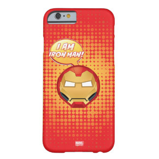 """I Am Iron Man"" Emoji Barely There iPhone 6 Case"