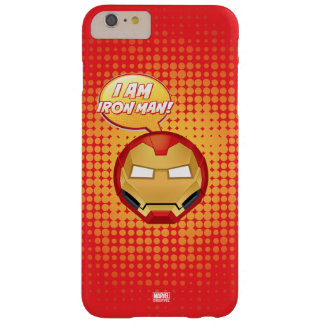 """I Am Iron Man"" Emoji Barely There iPhone 6 Plus Case"