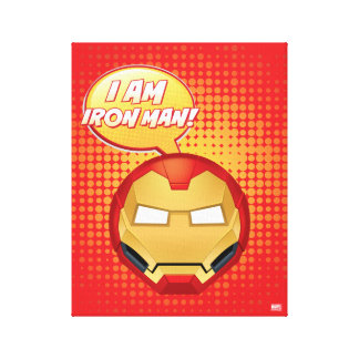 """I Am Iron Man"" Emoji Canvas Print"