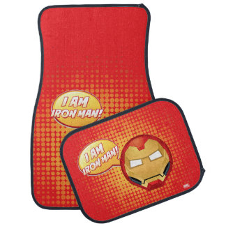 """I Am Iron Man"" Emoji Car Mat"