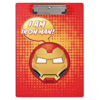 """I Am Iron Man"" Emoji Clipboard"