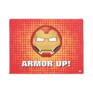 """I Am Iron Man"" Emoji Doormat"